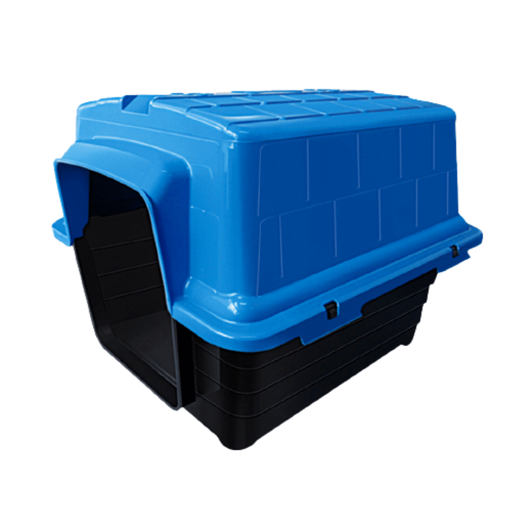 Casinha Plástica Para Cães Porte Médio Grande Nº4 Azul