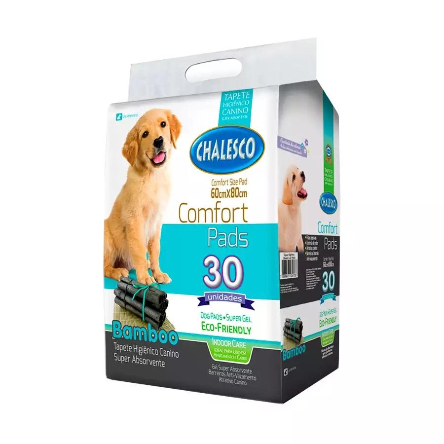 Chalesco Confort Pads - Tapete Higiênico Para Cães 60x80cm Bamboo 30 Unidades