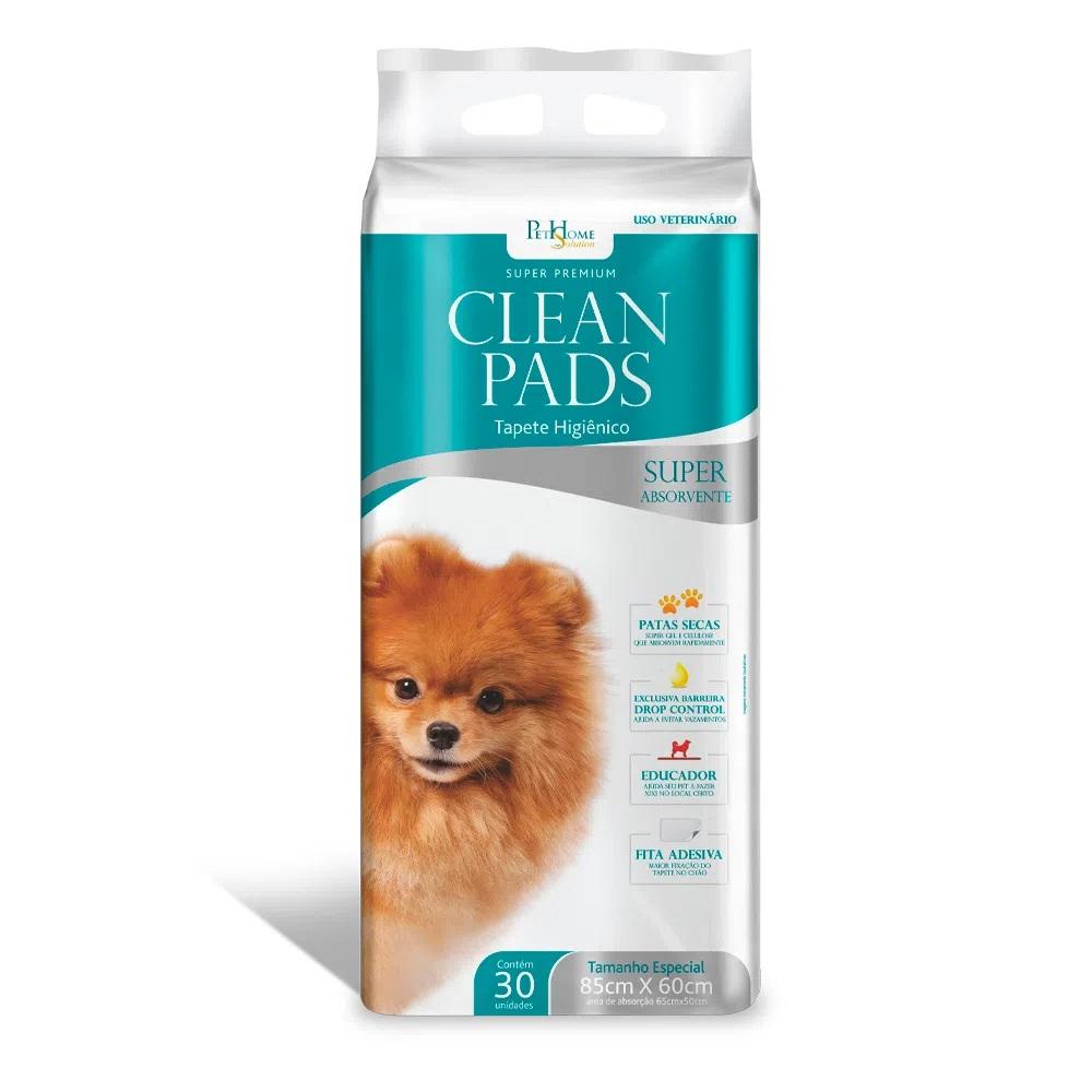 Clean Pads - Tapete Higiênico Para Cães 85x60cm 30 Unidades