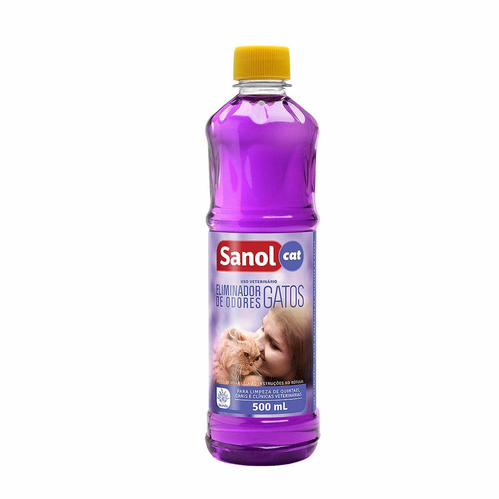 Desinfetante Ambiente Sanol Cat Lavanda Elimina Odores 500ml