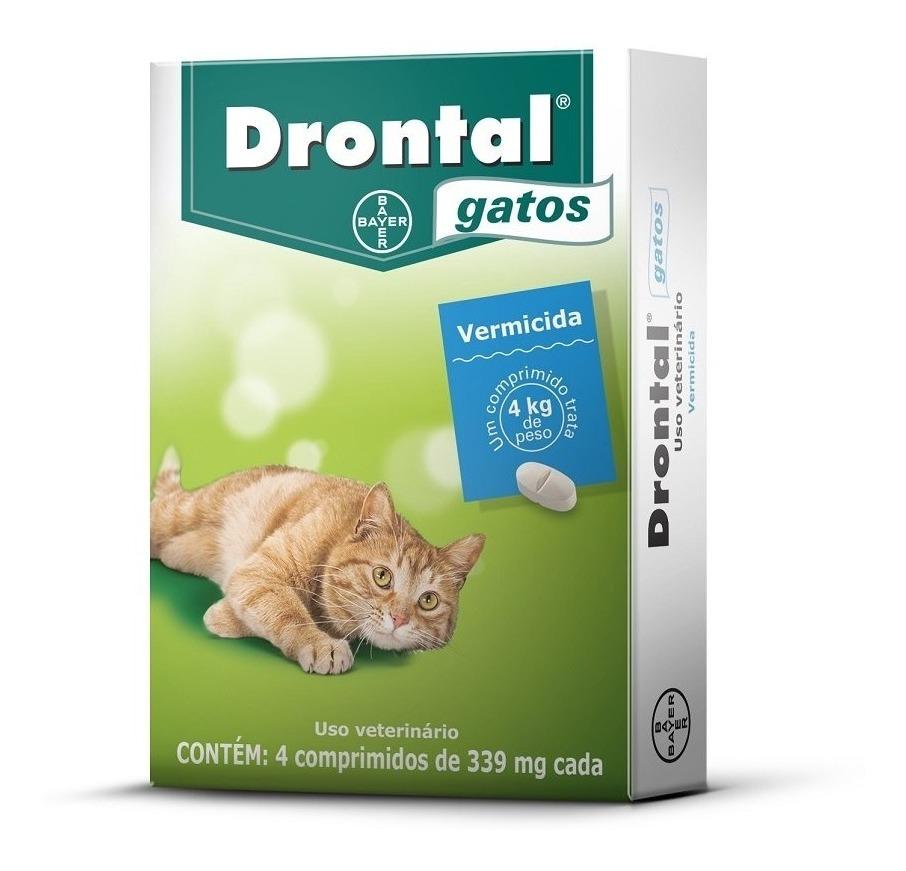 Drontal - Vermífugo Gatos 4 Kg 4 Comprimidos 339 mg