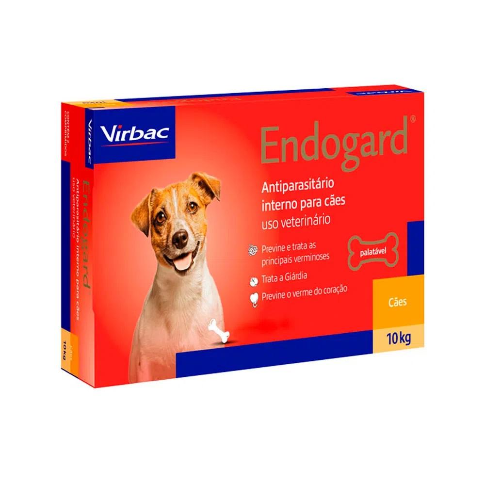 Endogard Virbac - Vermífugo para Cães 10 Kg 2 Comprimidos