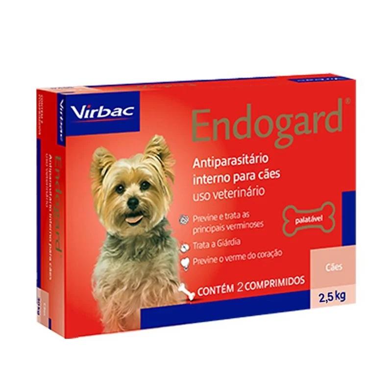 Endogard Virbac - Vermífugo para Cães 2,5Kg 2 Comprimidos
