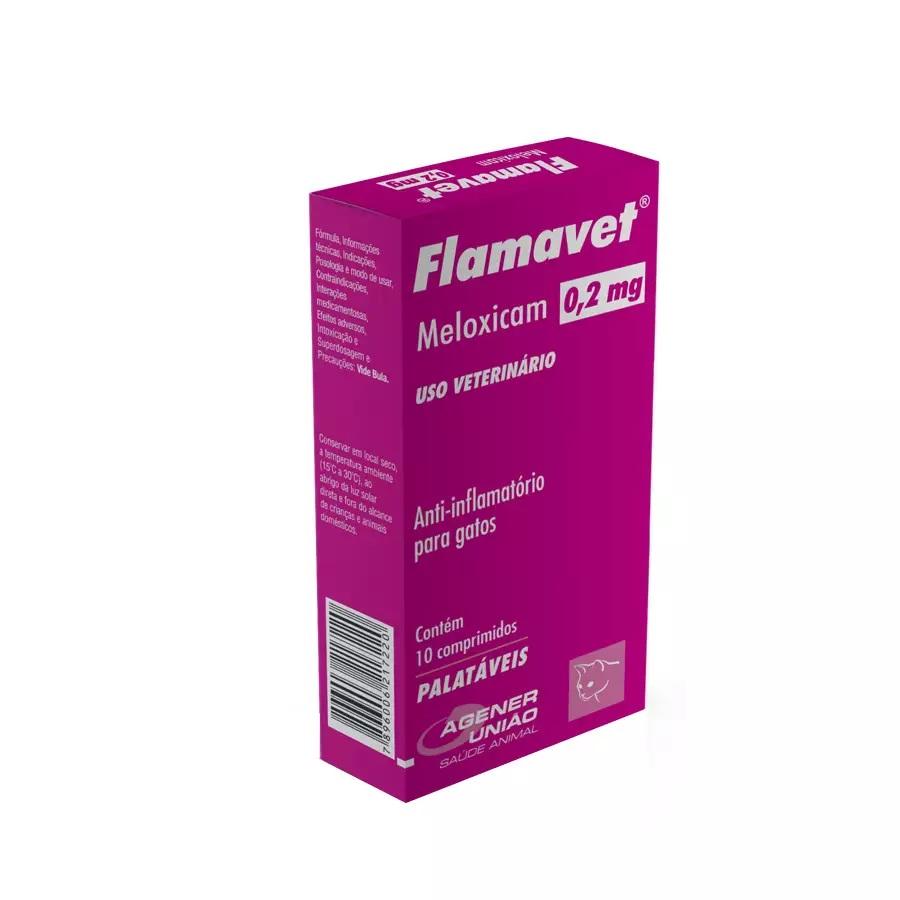 Flamavet 0,2mg - Anti-inflamatório Gatos 10 Comprimidos