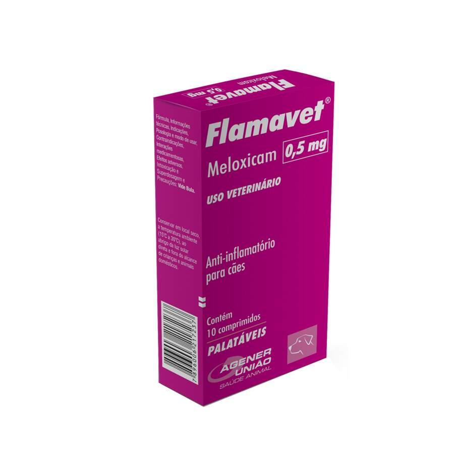 Flamavet 0,5mg - Anti-inflamatório Cães 10 Comprimidos