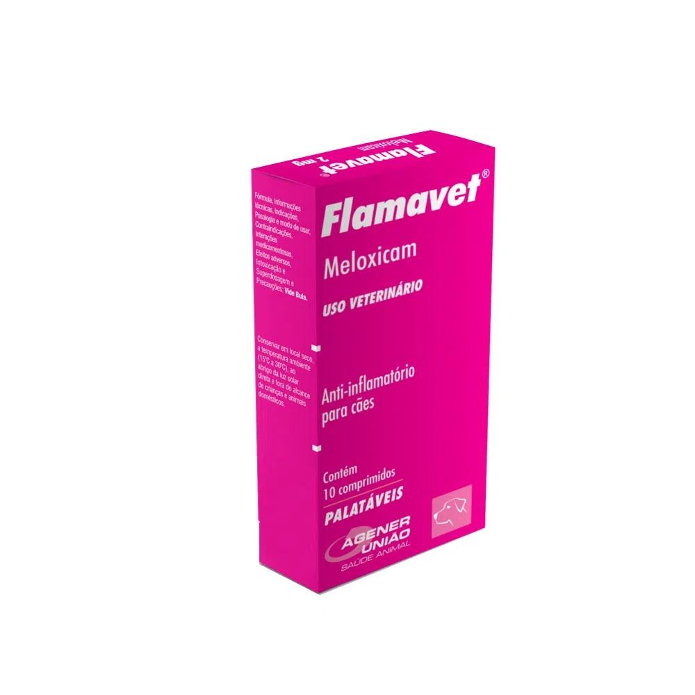 Flamavet 2mg - Anti-inflamatório Cães 10 Comprimidos