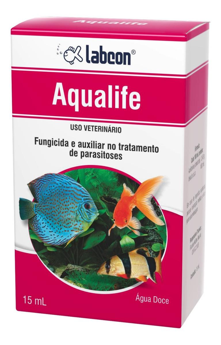 Fungicida Anti Parasitoses AquÁRio ÁGua Doce Labcon Aqualife 15ml