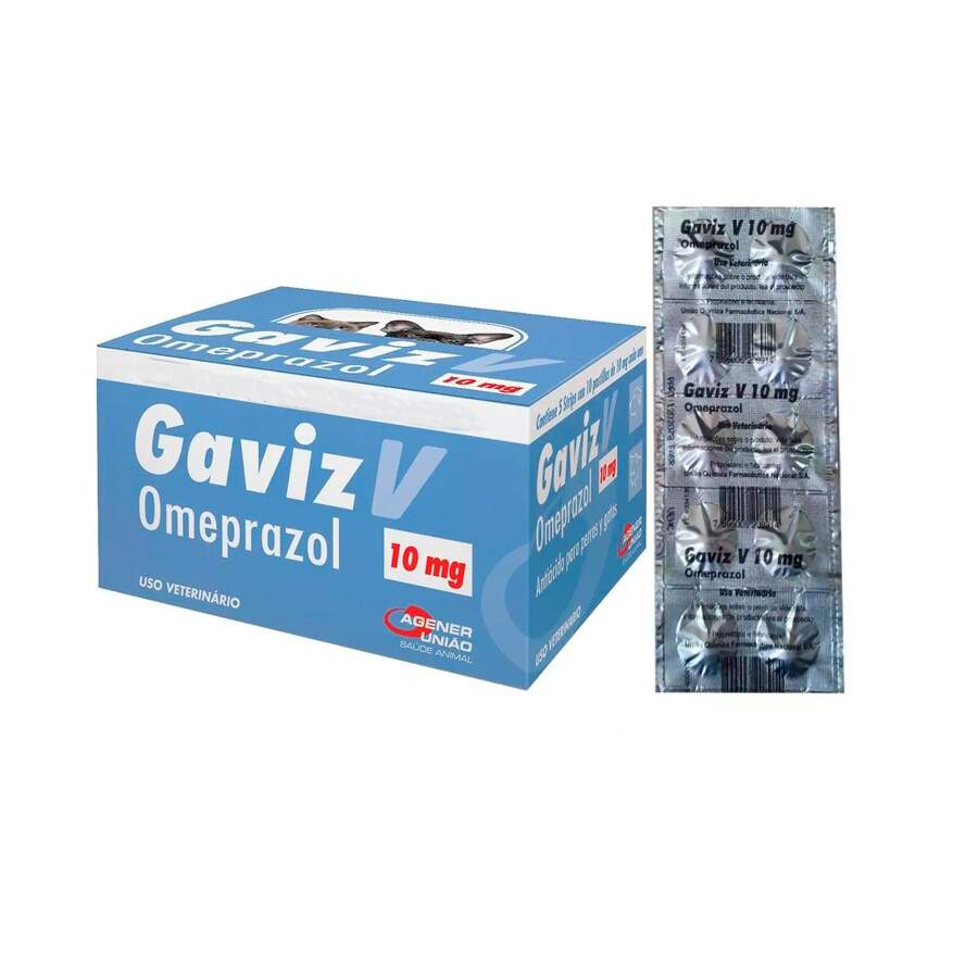 Gaviz V 10mg - Omeprazol Comprimido Trato Gástrico Caixa 50 Comp.