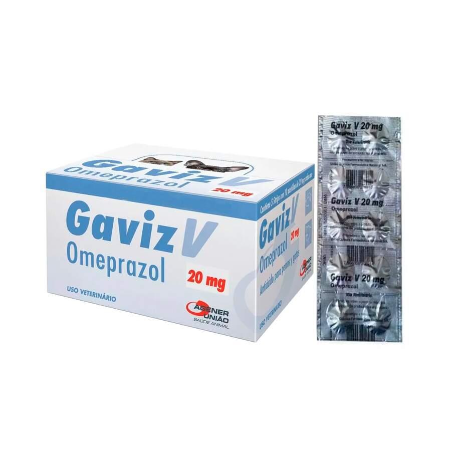 Gaviz V 20mg - Omeprazol Comprimido Trato Gástrico Caixa 50 Comp.