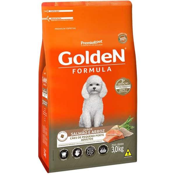 Ração Seca Cães Golden Adulto Salmão Miini 3kg