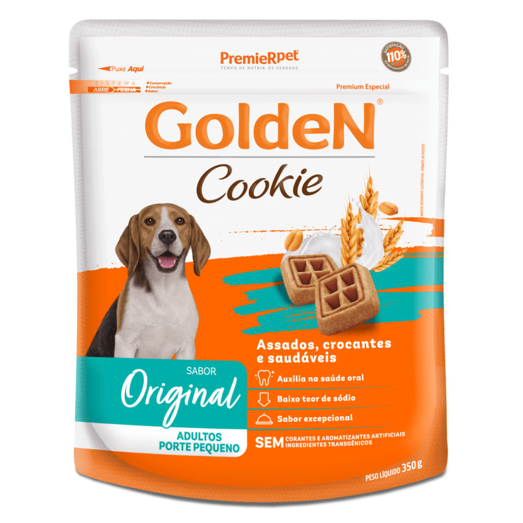 Golden Cookie - Petisco Para Cães Adultos Porte Pequeno 350g