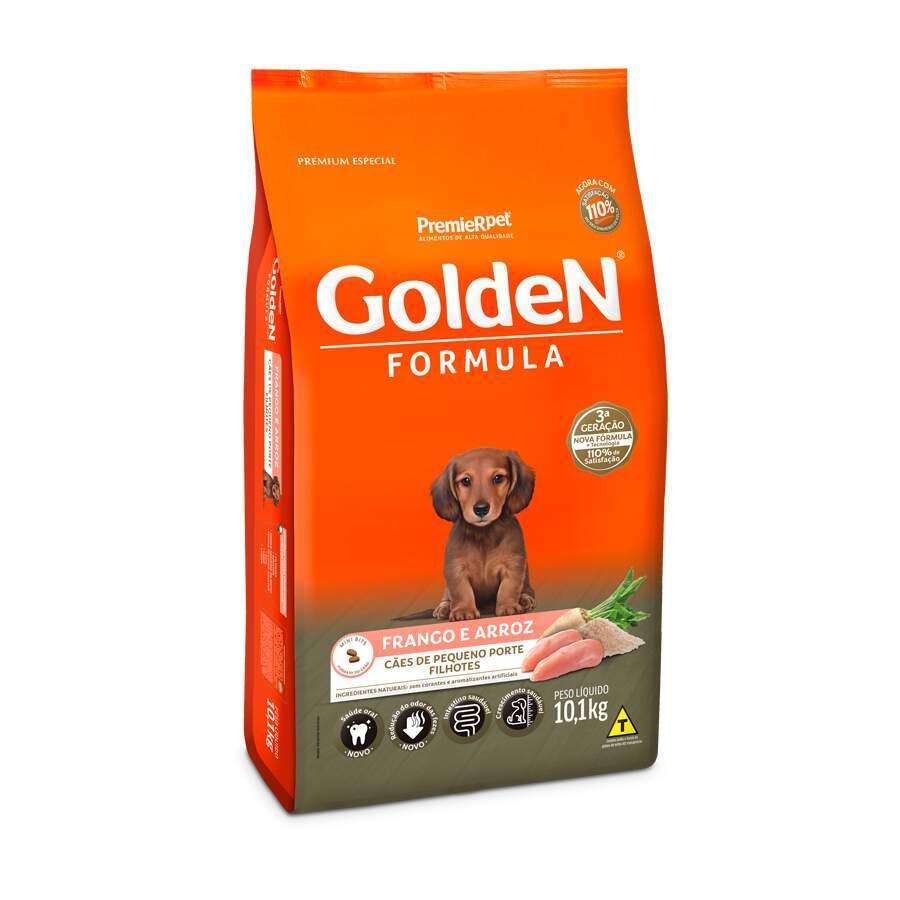 Ração Seca Cães Golden Filhote Frango Mini 10kg
