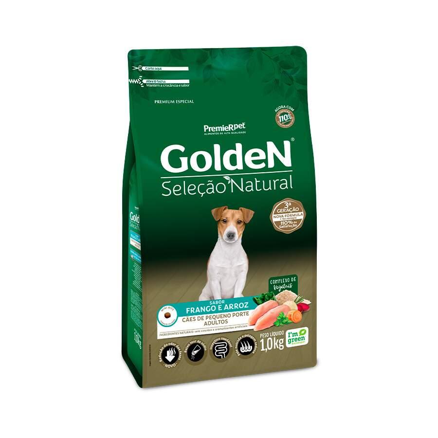Golden Seleção Natural - Ração Cães Adultos Raças Pequenas 1Kg