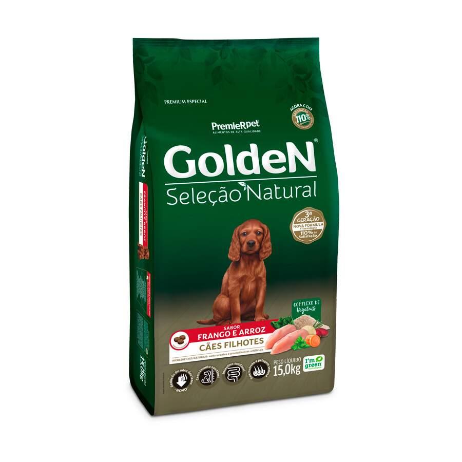 Golden Seleção Natural - Ração Cães Filhotes Frango 15Kg