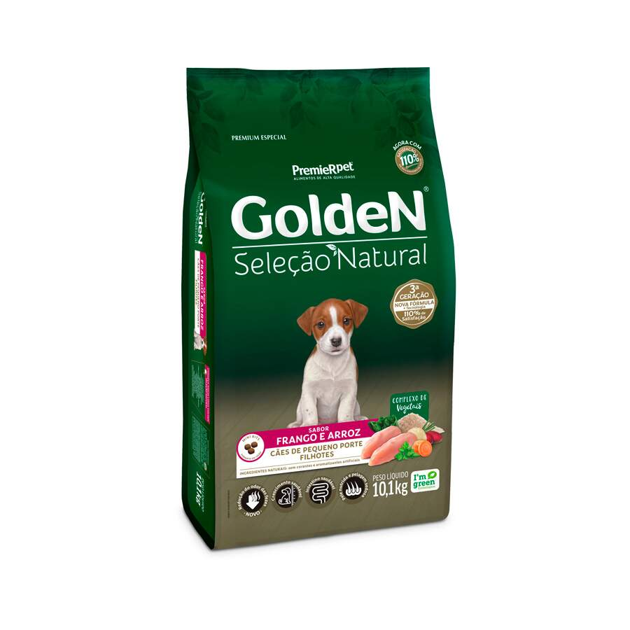 Golden Seleção Natural - Ração Cães Filhotes Raças Pequenas 1Kg