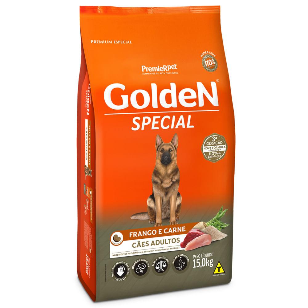 Golden Special - Ração Cães Adultos Frango e Carne 15Kg