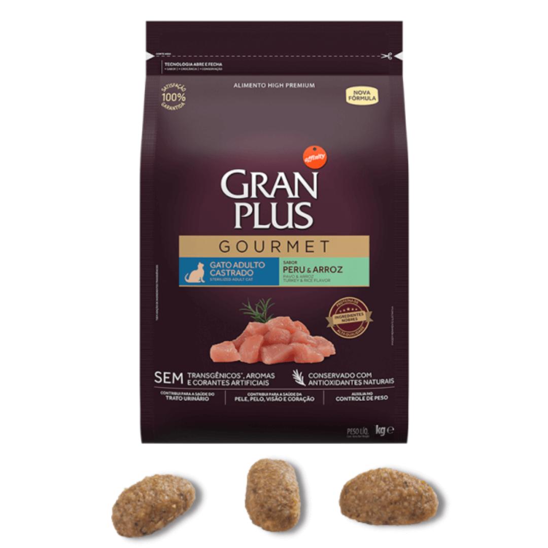 Gran Plus Gourmet - Ração Gatos Adultos Castrados Peru 3Kg