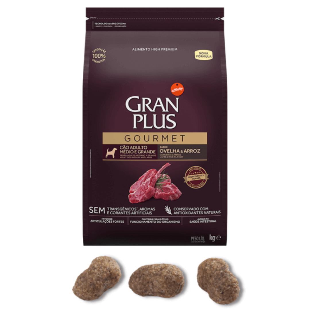 Gran Plus Gourmet - Ração Para Cães Adultos Médio Grande Ovelha 15Kg