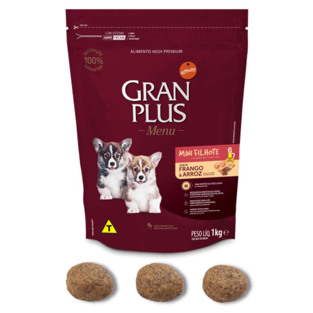 Gran Plus Menu - Ração Cães Mini Filhotes Frango e Arroz 1Kg