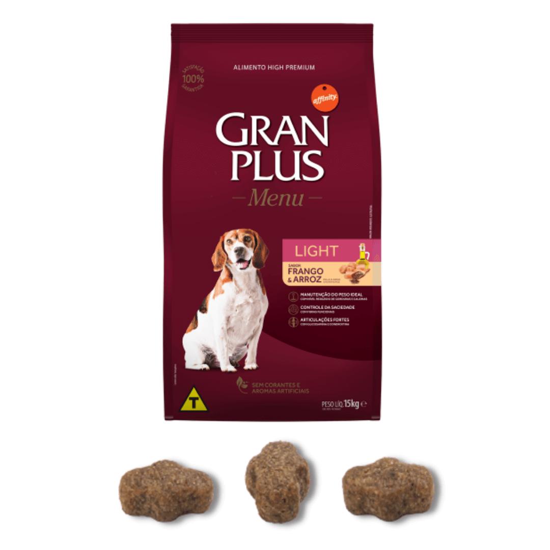 Gran Plus - Ração Cães Adultos Frango e Arroz Light 15Kg