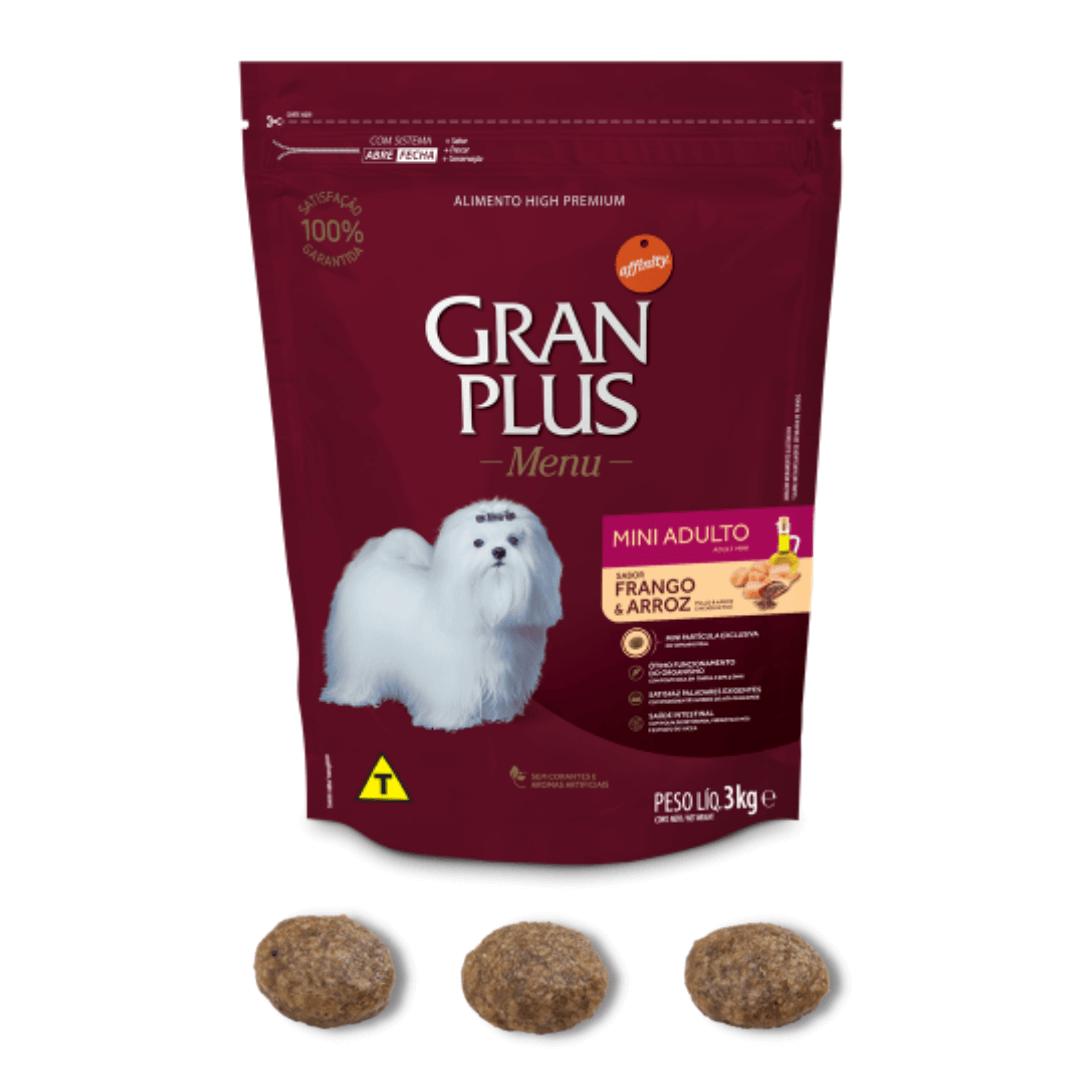 Gran Plus - Ração Cães Raças Mini Frango 3Kg