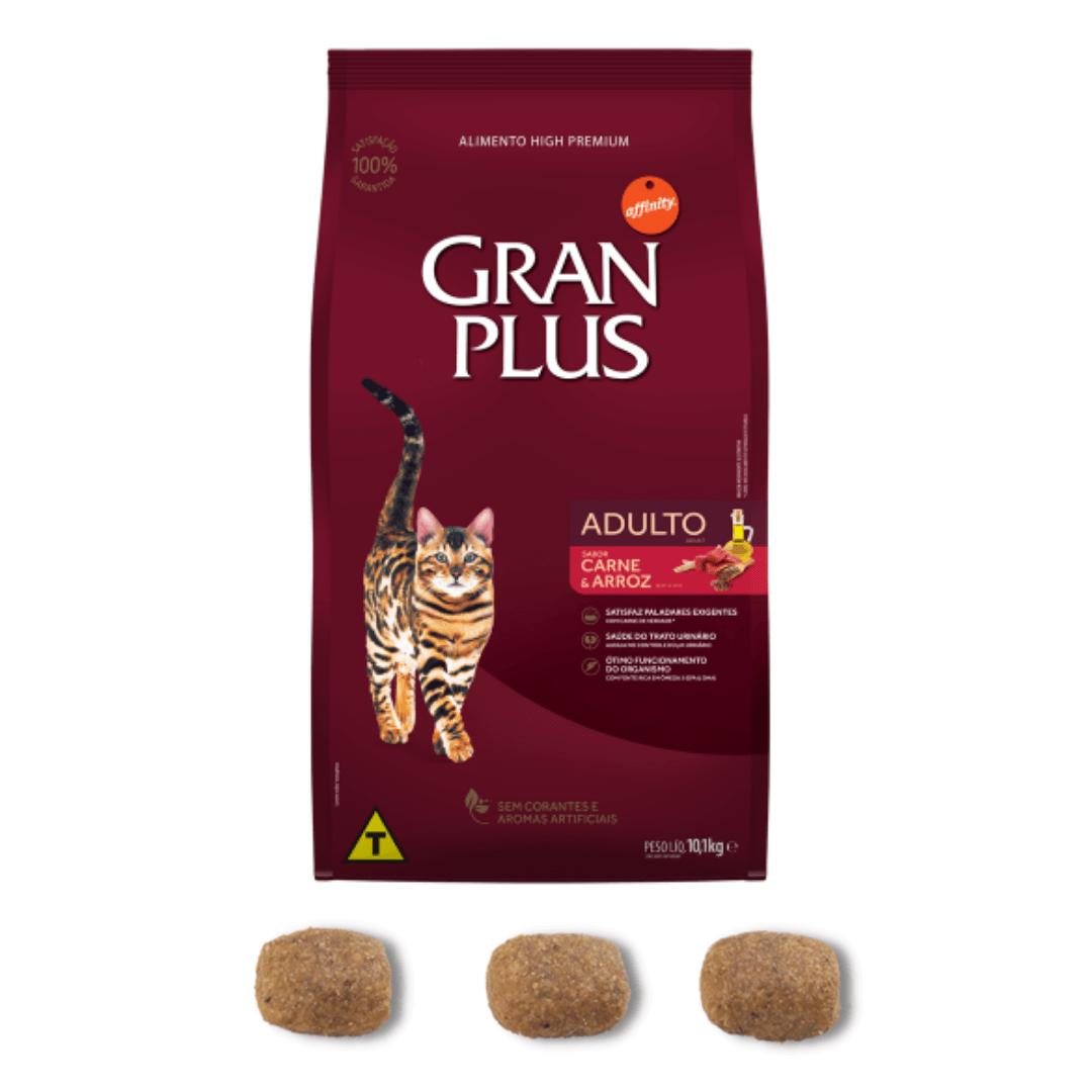Gran Plus - Ração Gatos Adultos Carne 10,1Kg