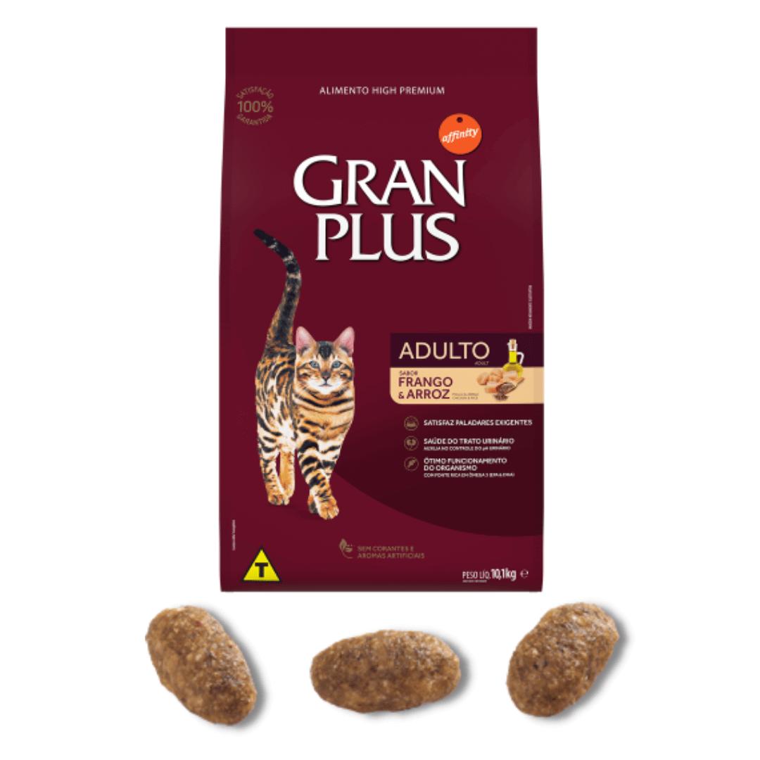 Gran Plus - Ração Gatos Adultos Frango 10,1 Kg