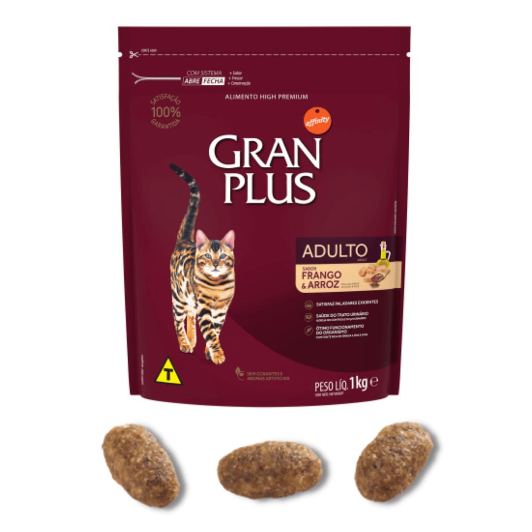 Gran Plus - Ração Gatos Adultos Frango 1Kg