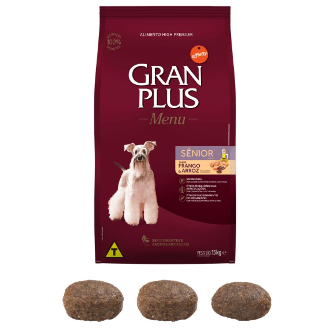 Gran Plus - Ração Para Cães Senior Frango e Arroz 15Kg