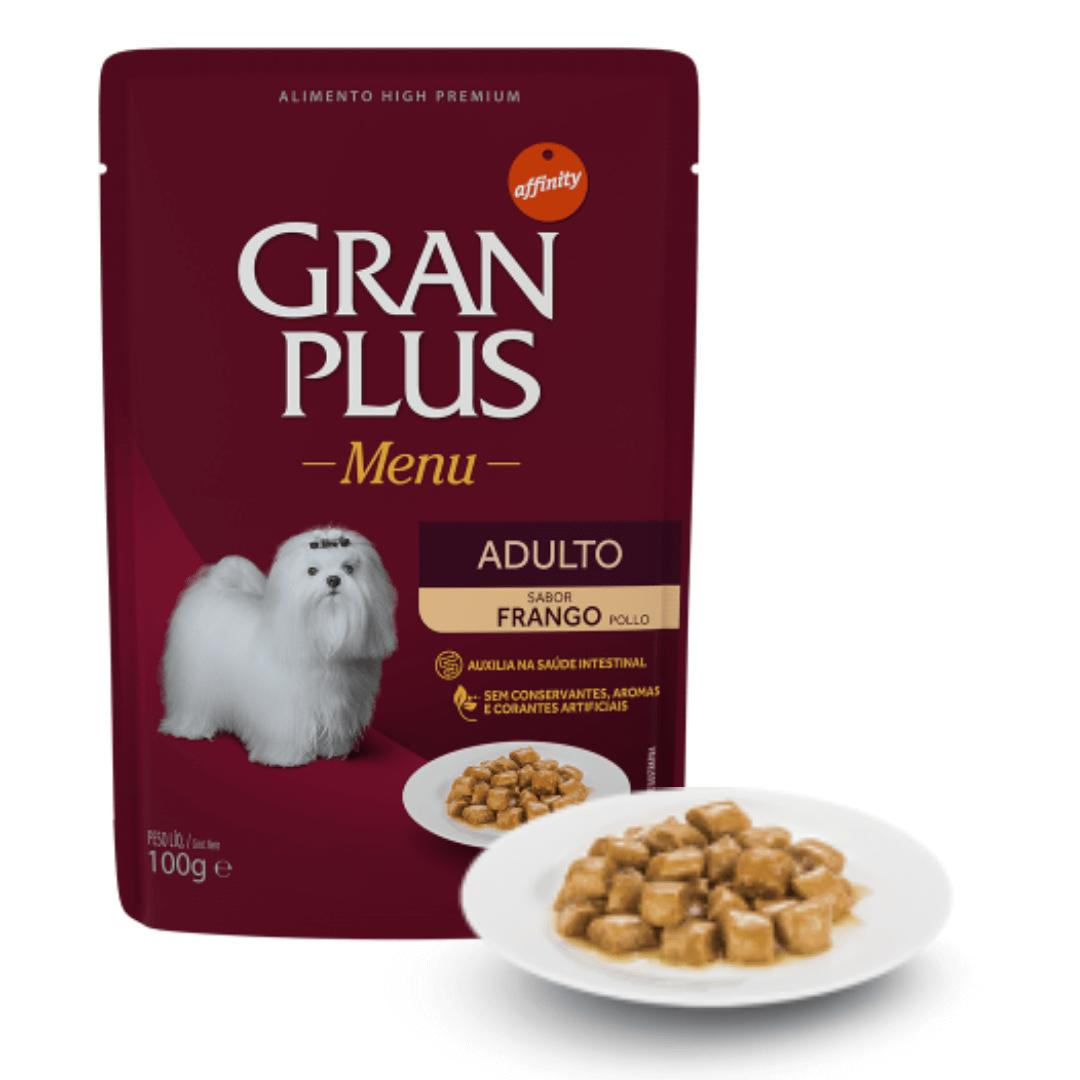Gran Plus - Ração Úmida Sachê Cães Frango 100g