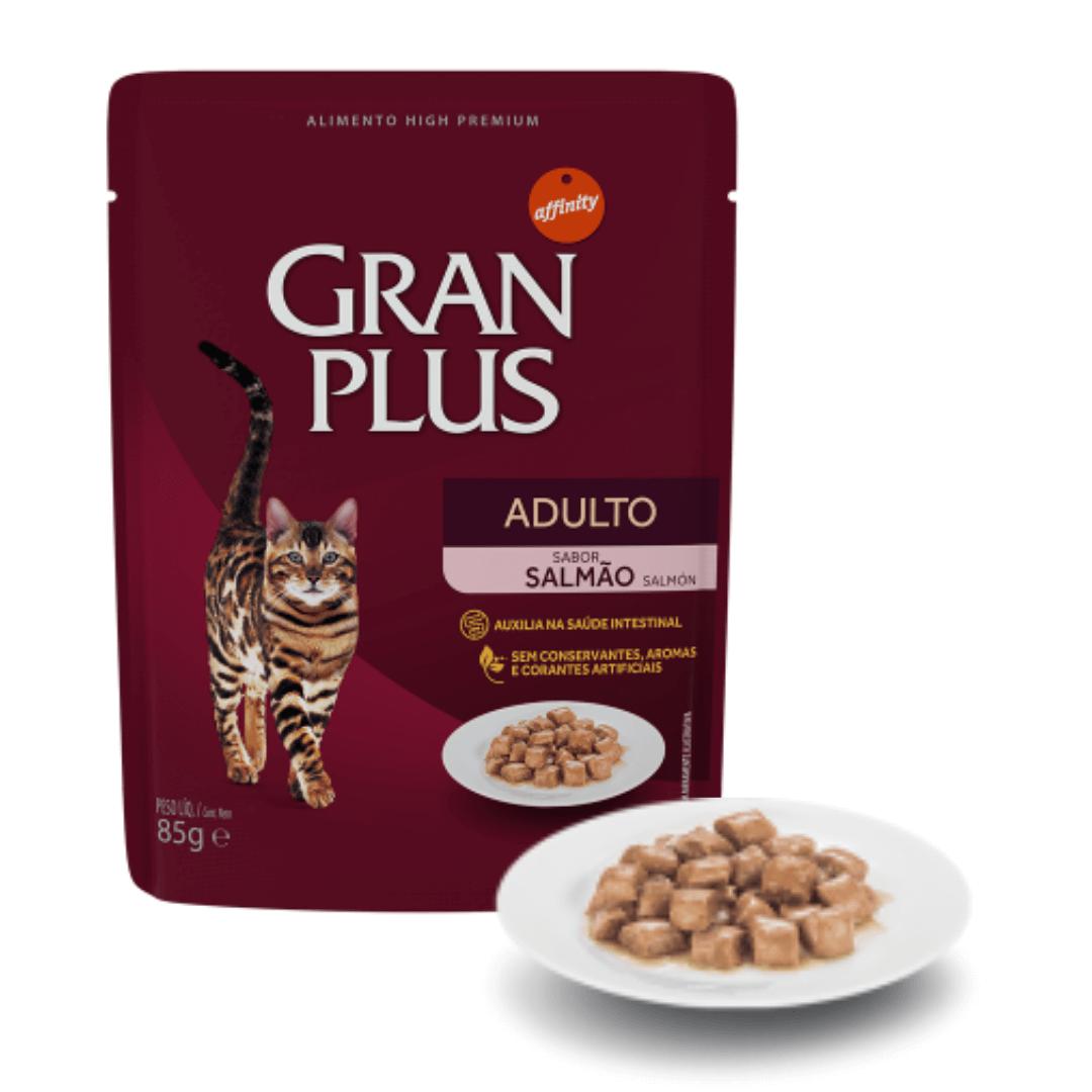 Gran Plus - Ração Úmida Sachê Gatos Adultos Salmão 85g