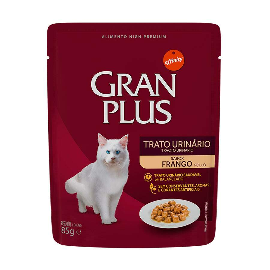 Gran Plus - Ração Úmida Sachê Gatos Frango Trato Urinário 85g