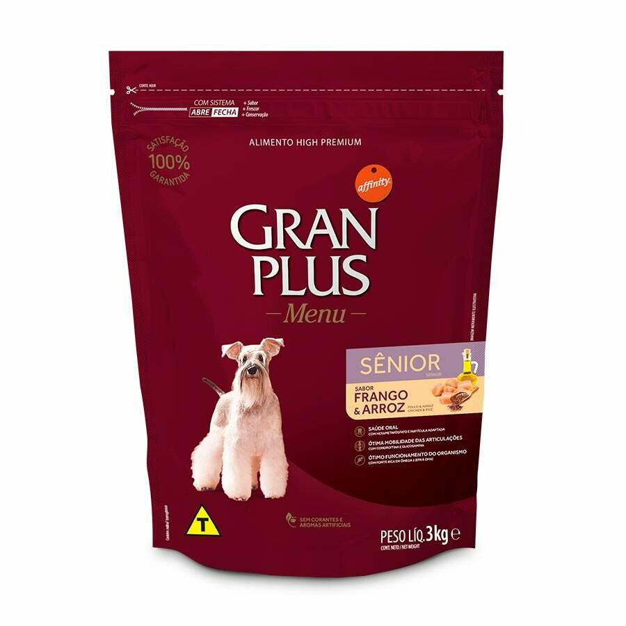 Ração Gran Plus Menu Cães Sênior Frango 3kg