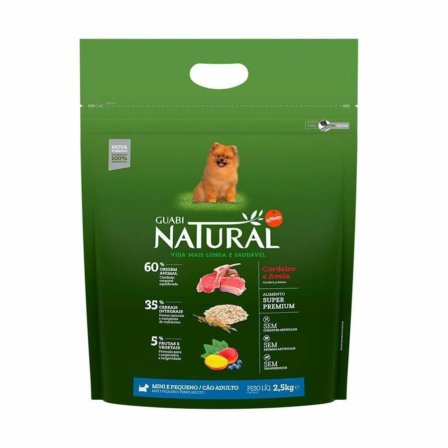 Ração Guabi Natural Cães Adultos Mini Cordeiro 2,5kg