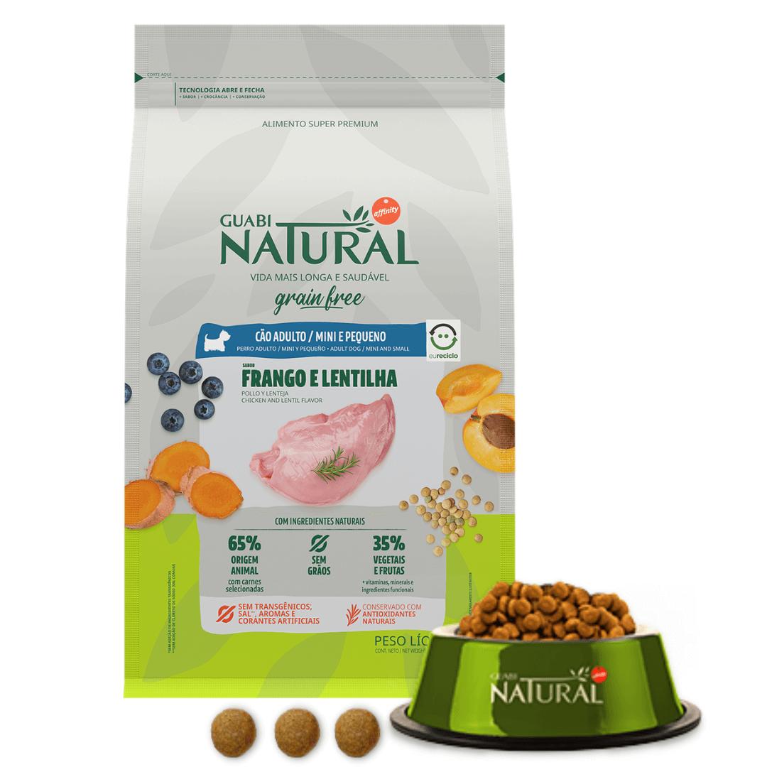 Guabi Natural - Ração Grain Free Cães Adultos Mini Frango Lentilha 1Kg