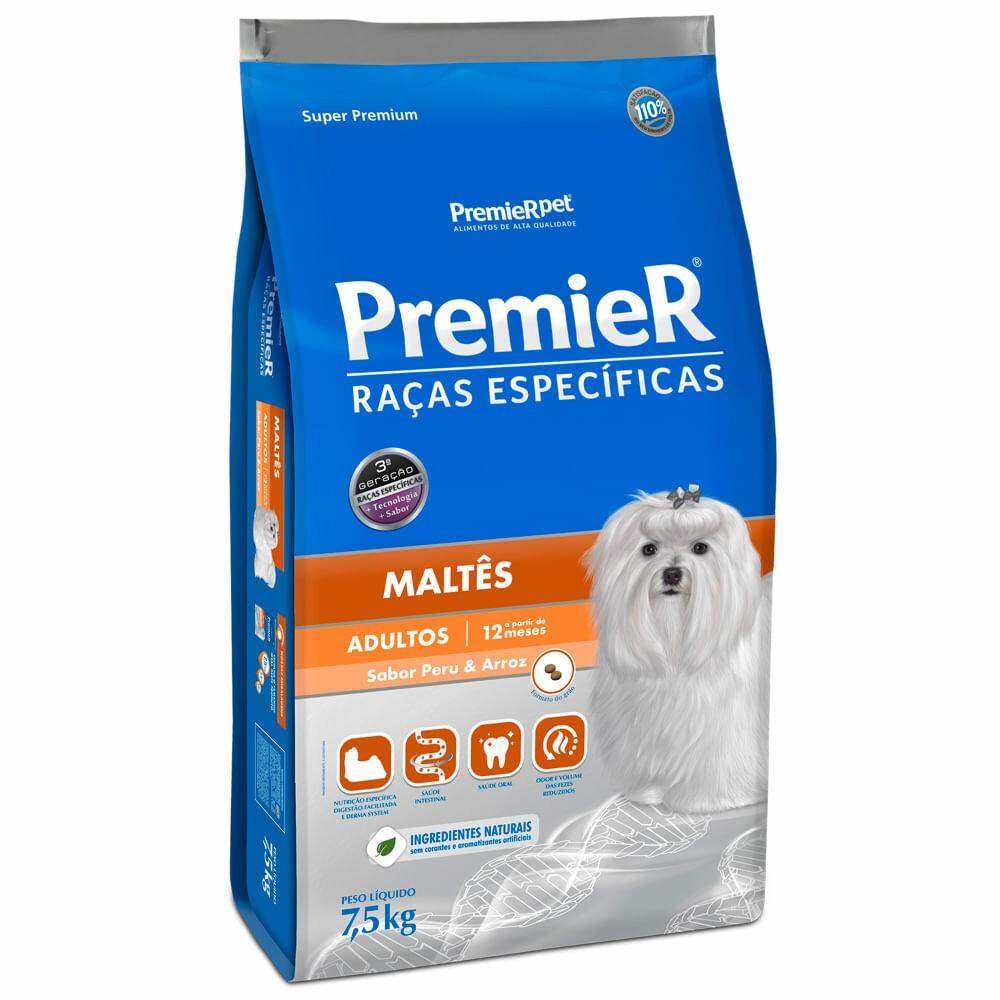 Ração Premier Pet Raças Específicas Maltes Adultos 7,5kg