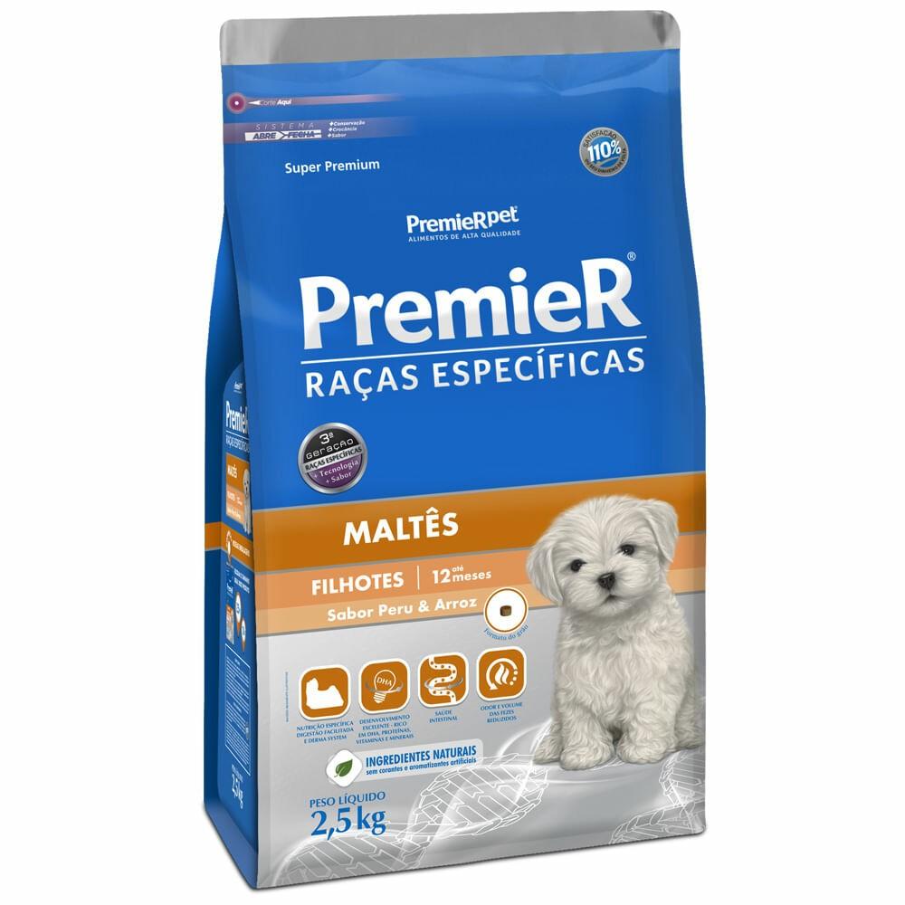Ração Premier Pet Raças Específicas Maltes Filhotes 2,5kg
