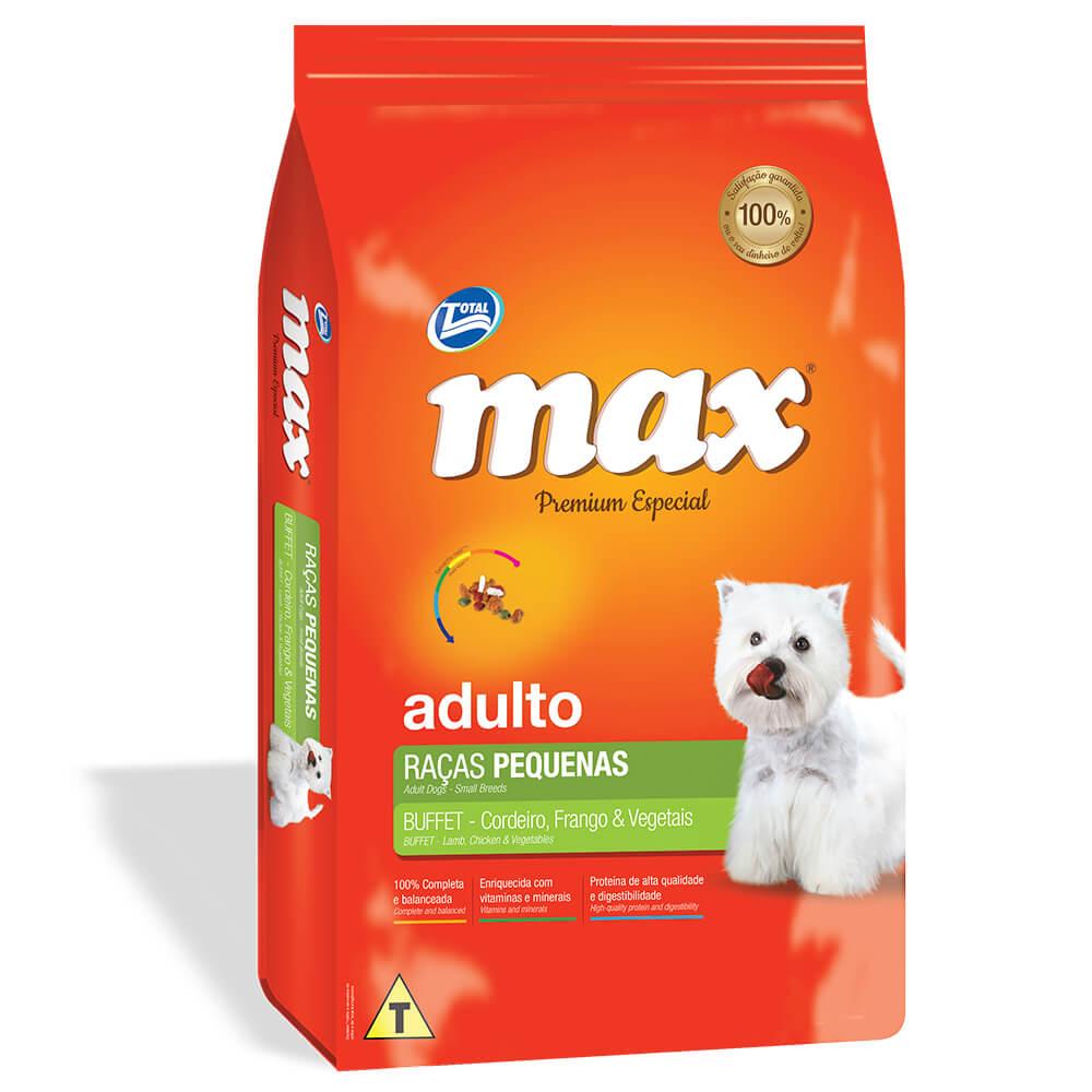 Ração Max Premium Caes Buffet Frango Veg Ad Rp 20kg