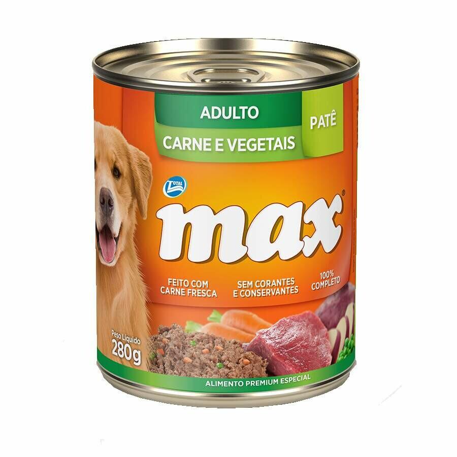 MAX CAES WET AD CARNE/VEG 280G