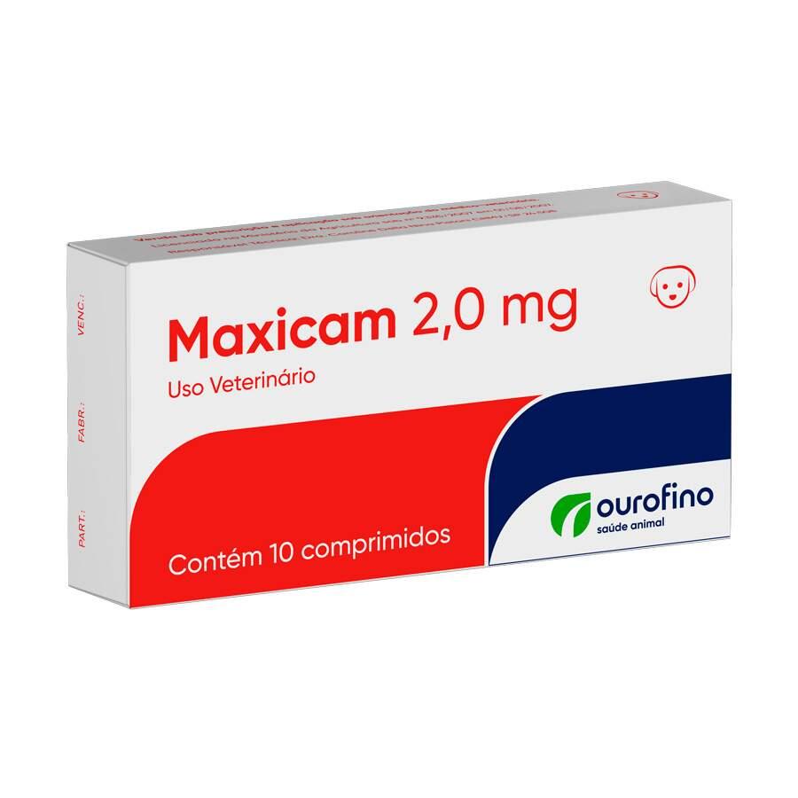 Maxicam 2,0mg Ourofino - Anti-inflamatório Cães 10 Comprimidos