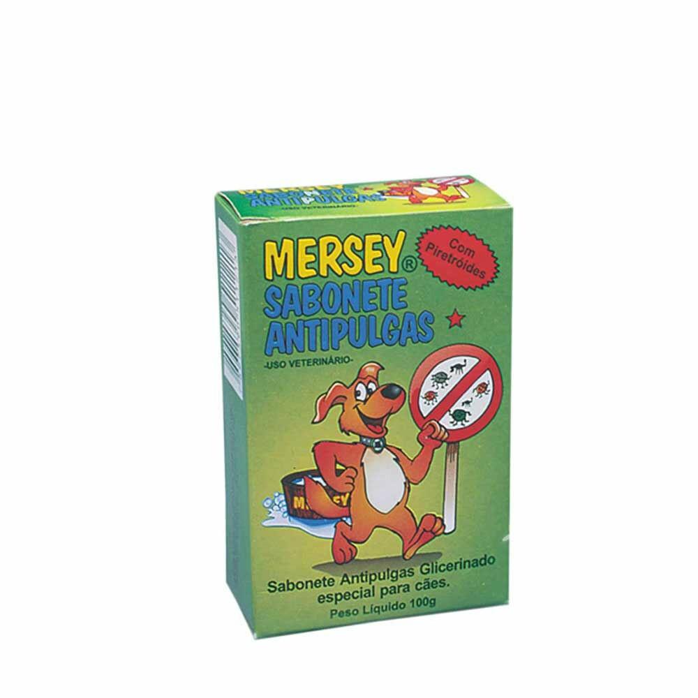 Mersey - Sabonete Antipulgas Cães 100g Glicerinado Piretróides