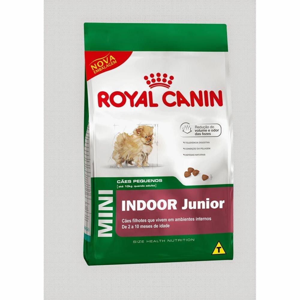 Ração Royal Canin Cães Mini Indoor Junior 1kg