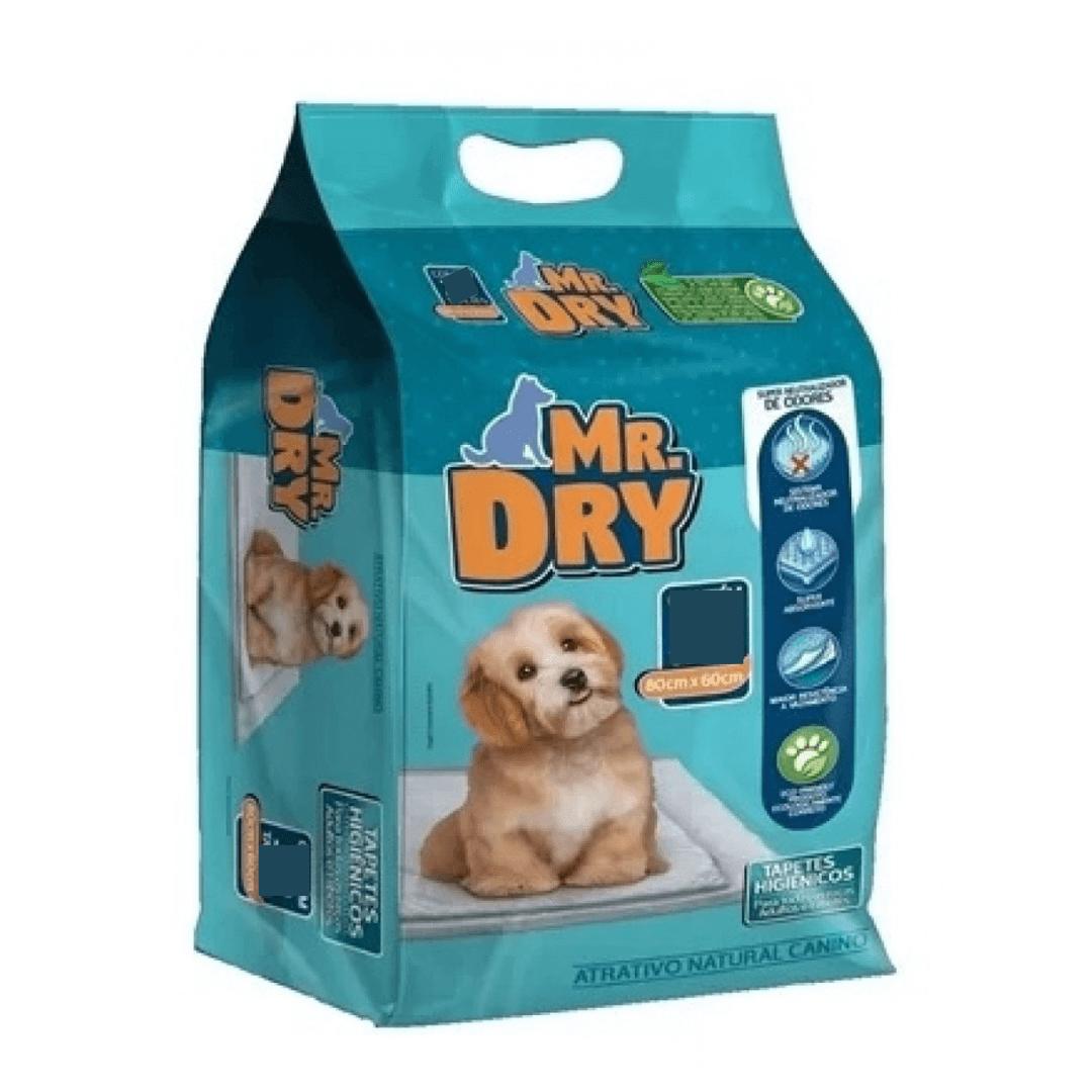 Mr. Dry - Tapete Higiênico Cães 80x60cm Seca Rápido Pacote 7Un.
