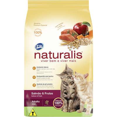 Ração Naturalis Gatos Adultos Salmao E Frutas 10,1Kg