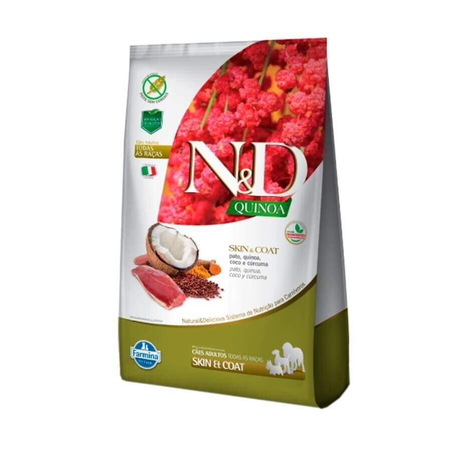 Ração Nd Quinoa Cães Adultos Skin Coat Pato 0,8kg
