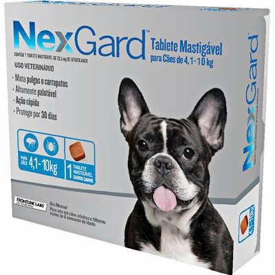 Nexgard - Antipulgas e Carrapatos Cães M 4  a 10 Kg 1 Tablete