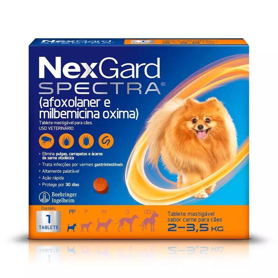 Nexgard Spectra - Antipulgas e Carrapatos 68mg Cães 2 a 3,5 Kg 1 Comprimido