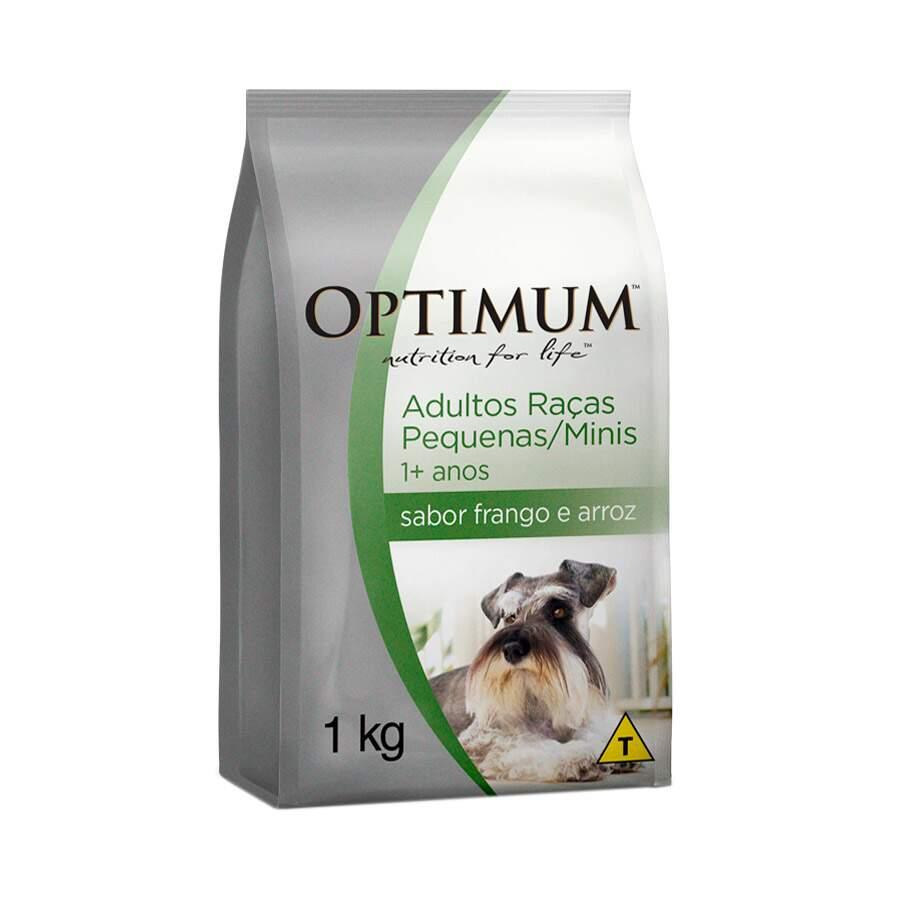 Ração Optimum Cães Adultos Raças P. Frango Arroz 1kg
