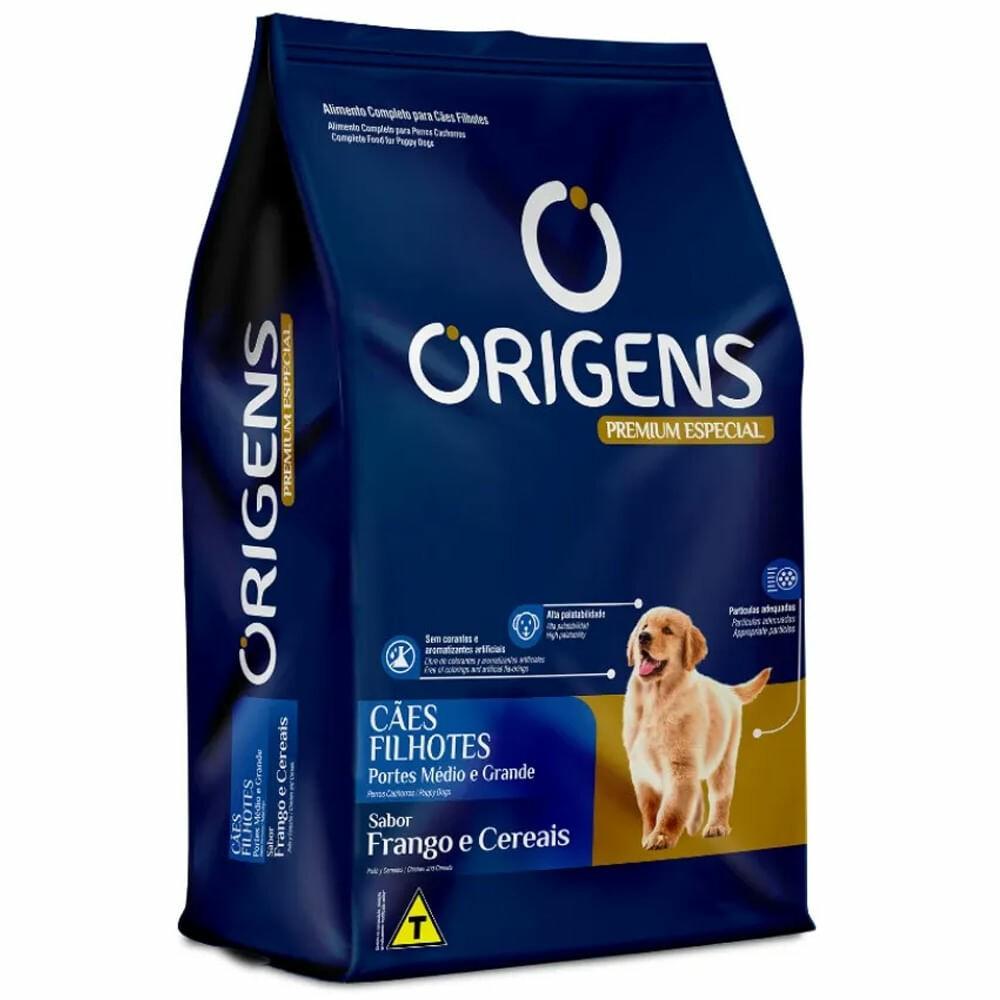 Ração Origens Cães Filhotes Medio/Grande 3kg