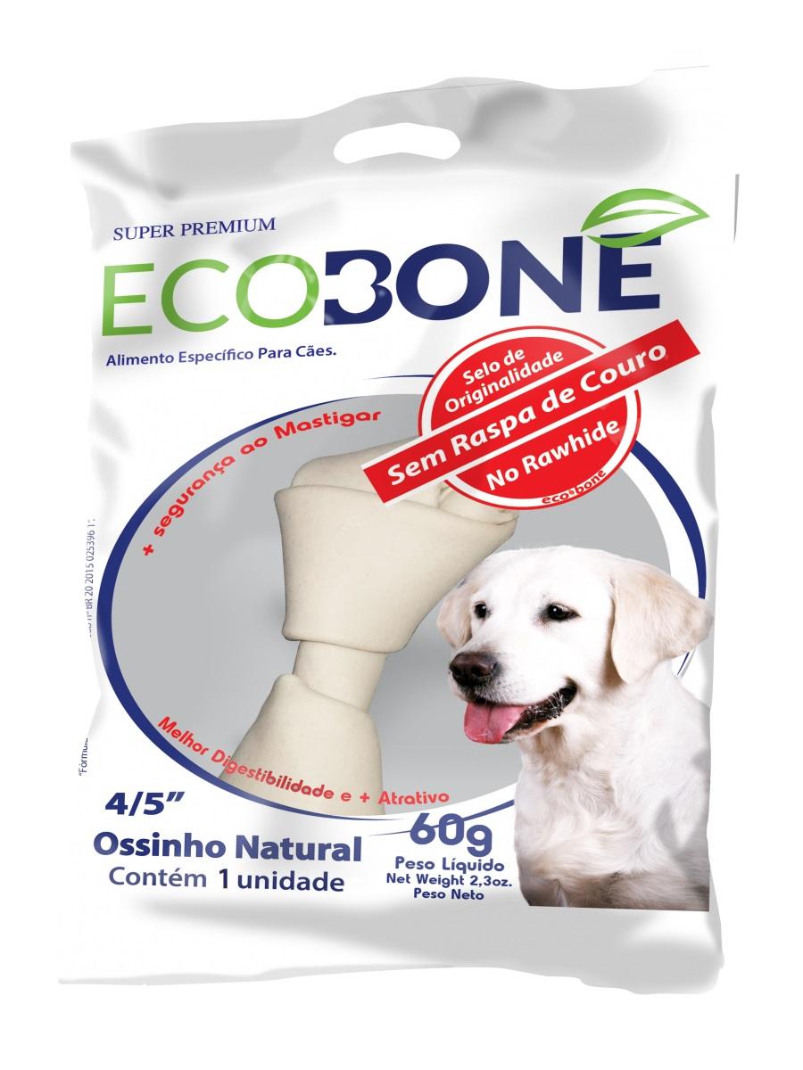 Ossinho Natural Cães Ecobone 4/5 60g - 1 Unidade